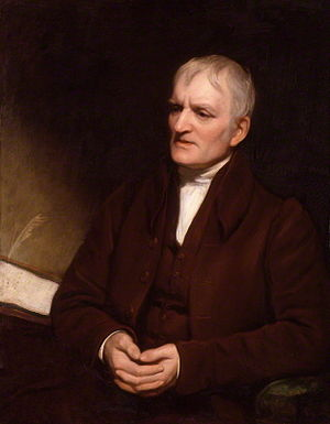 John Dalton - Dalton in later life by Thomas Phillips, National Portrait Gallery, London (1835).
