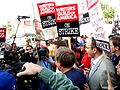 John Edwards pickets with striking WGA members (2048440772).jpg