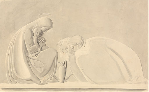 John Flaxman - The Adoration of the Magi, a Design for Bas Relief - Google Art Project