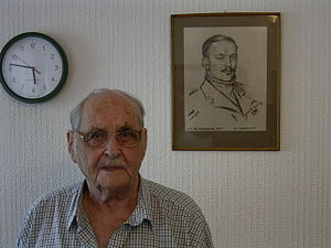 Cuthbert Orde - Image: John Freeborn with his Orde portrait, 2004