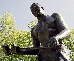 John Henry (folklore) - Statue of John Henry outside the town of Talcott in Summers County, West Virginia