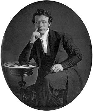 John Jabez Edwin Mayall - Self-portrait of Mayall (daguerreotype, c. 1844)