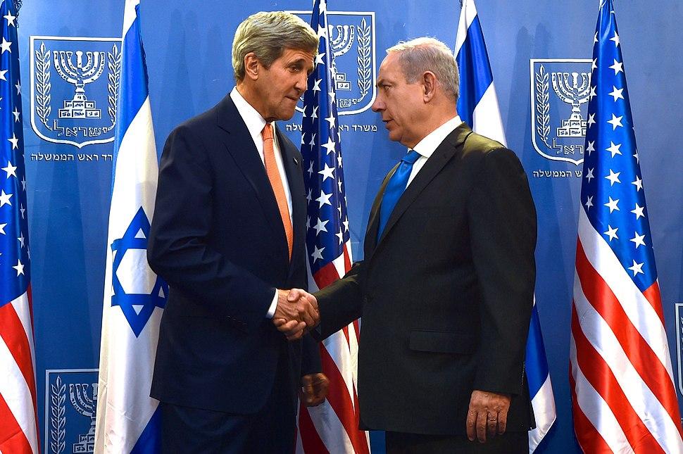 John Kerry and Benjamin Netanyahu July 2014