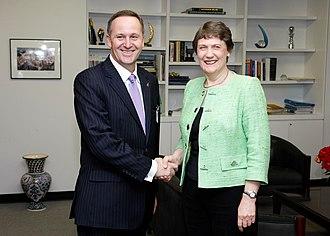 World TV - Prime minister John Key (left) has attended events sponsored by World TV.
