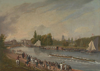 A Boat Race on the River Isis, Oxford
