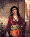John William Waterhouse- The Unwelcome Companion - a Street Scene in Cairo.JPG
