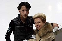 Johnny Weir and Galina Zmievskaya.jpg