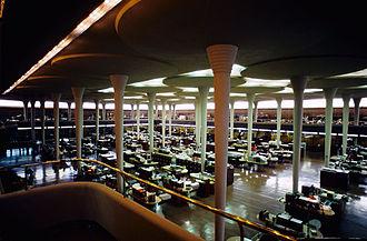 "Johnson Wax Headquarters - Interior, ""Great Workroom"", of the Johnson Wax Headquarters building"