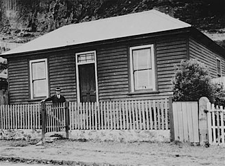 Joseph Lyons - Lyons as an adult standing outside his birthplace and childhood home in Stanley, Tasmania