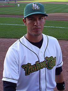 J. P. Arencibia at a New Hampshire Fisher Cats game in 2008.