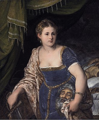 Lambert Sustris - Image: Judith with the head of Holofernes by Lambert Sustris