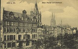 Köln a. Rh., Alter Markt mit Rathaus Unknown author / Public domain