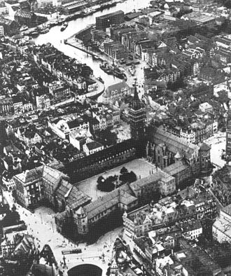 Königsberg Castle - Overhead view of the castle, 1925