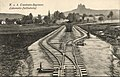 K. u. k. Eisenbahnregiment Lokomotiv-Feldbahnhof, Verlag Julius Kühlkopf, Buchhandlung, Korneuburg - K. u. k. Lokomotivfeldbahn Nr. 1 Ersatzkompagnie (21. Mai 1916).jpg
