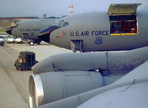 Maine Air National Guard - 101st ARW KC-135Es at Pisa Airport, Italy, 1996