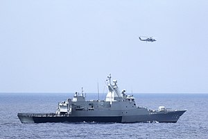 Kedah-class offshore patrol vessel - Image: KD Terengganu (174) underway in the Gulf of Thailand in March 2014