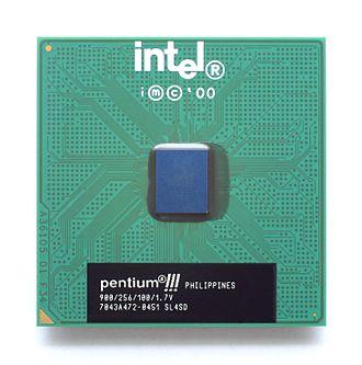 Pentium III - A 900 MHz Coppermine FC-PGA Pentium III.