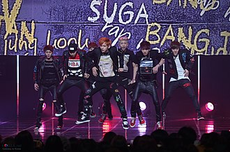 BTS (band) - BTS in 2014 performing at Mnet M! Countdown