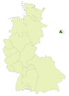Map of Germany, area of Oberliga Berlin highlighted