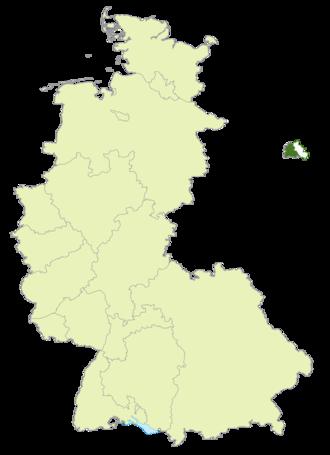 Oberliga Berlin (1945–63) - Map of Germany: Oberliga Berlin highlighted