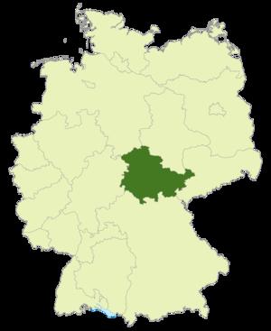 Thüringenliga - Image: Karte DFB Regionalverbände TH
