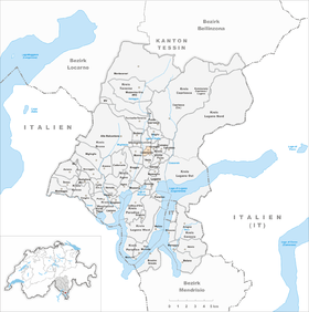 Map of Cadempino