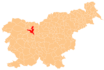 Location of the Municipality of Kranj in Slovenia