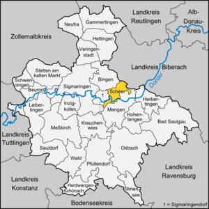 Scheer, Germany - Image: Karte Scheer