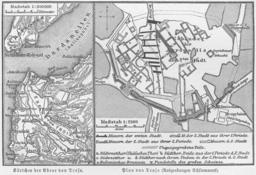Mapo de la antikva urbo Trojo laŭ arkeologiaj malkovraĵoj