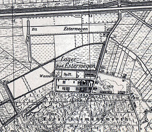 Esterwegen concentration camp - Map of the camp from 1955