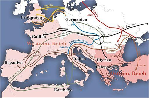 Karte völkerwanderung