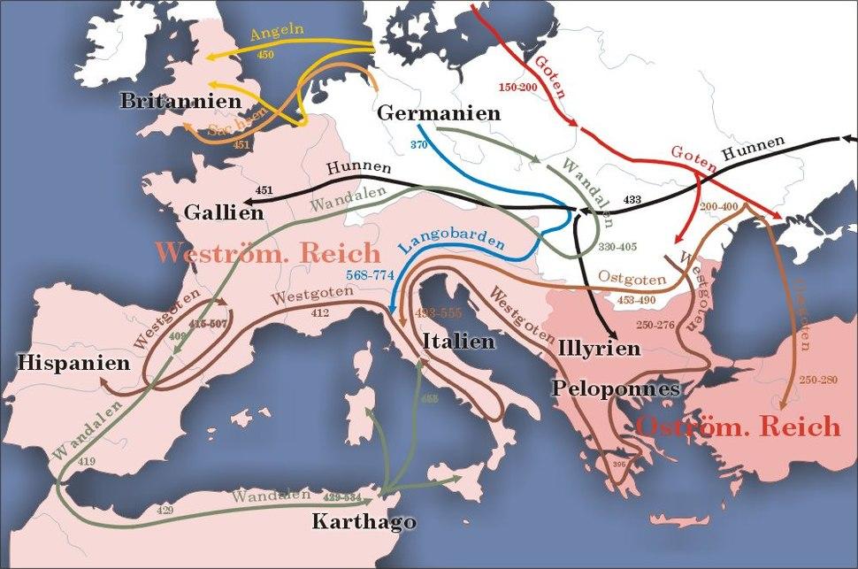 Karte v%C3%B6lkerwanderung