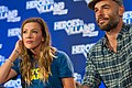 Katie Cassidy and Paul Blackthorne at HVFF NJ 2016.jpg