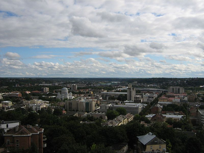 Файл:Kaunas centre view from Resurection church.jpg