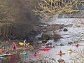 Kayaks embark on The Tees at Barnard Castle - geograph.org.uk - 1127453.jpg