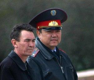 Police officer from Kazakhstan