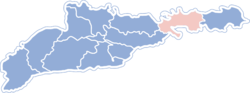 Location of Keļmencu rajons