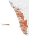 Kerala - Cumulative rainfall by district 2018.png