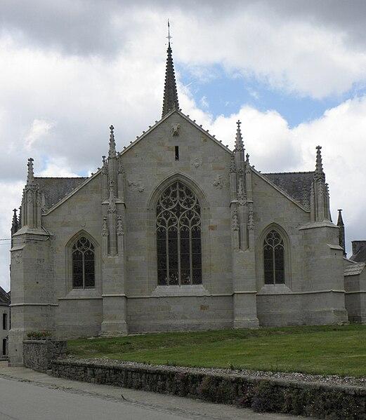 Chevet de la chapelle Notre-Dame de Kernascléden (56).