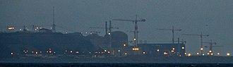 Flamanville Nuclear Power Plant - Image: Kernkraftwerk Flamanville bei Nacht