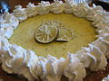 Key lime pie with whipped cream, March 2009.jpg