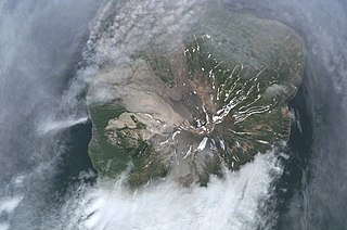 Kharimkotan island in Russia