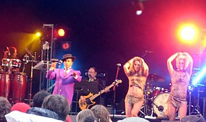 Kid Creole and the Coconuts - Kid Creole and the Coconuts performing at Ascot Racecourse in 2008