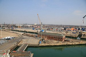 King George V Graving Dock - Image: King George V dry dock, Southampton geograph.org.uk 1214628
