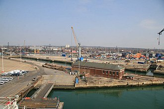 King George V Graving Dock - Image: King George V dry dock, Southampton geograph.org.uk 1214628
