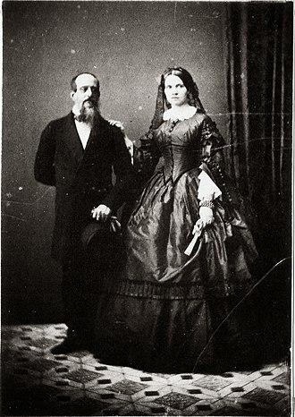 Adelaide of Löwenstein-Wertheim-Rosenberg - Dom Miguel and his wife, Princess Adelaide