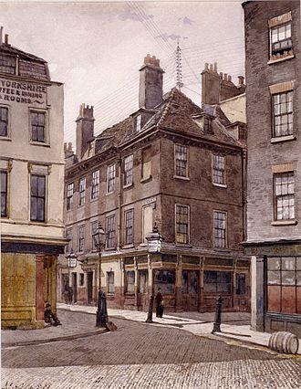 John Crowther - King Street, Stepney. John Crowther, watercolour.