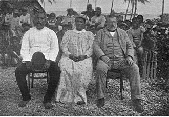 Numangatini Tione Ariki - Image: King and Queen of Mangaia with Richard Seddon