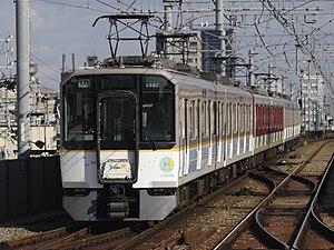 Kintetsu 9020 series - A 9020 series on a Hanshin Line test run, November 2008