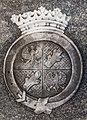 Klagenfurt Krastowitz Filialkirche hl Ulrich Familiengruft Seherr Thoss Wappenrelief 29122016 5920.jpg